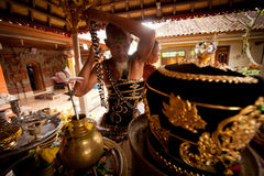 Oton ceremony on Bali island Royalty Free Stock Photos
