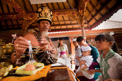 Oton ceremony on Bali island Royalty Free Stock Photo
