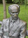 Oton Zupancic statue in Tivoli park. Ljubljana, Slovenia. Stock Image