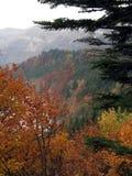 Otoño en las montañas del Jura Foto de archivo libre de regalías