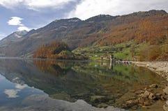 Otoño en Suiza Imágenes de archivo libres de regalías