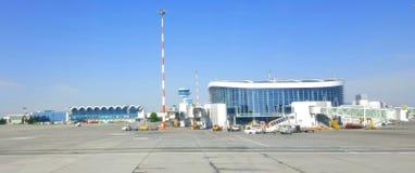 Otopnei机场,布加勒斯特,罗马尼亚 免版税库存图片
