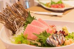 Otoro sashimi (Maguro) and shin samma sashimi Royalty Free Stock Photos