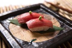 Otoro (Vettige Tuna Belly) Sushi Royalty-vrije Stock Afbeeldingen