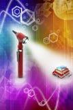 Otoscope и медицинские учебники Стоковая Фотография RF