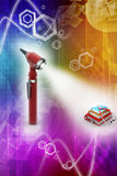 Otoscope and medical text books Royalty Free Stock Photography
