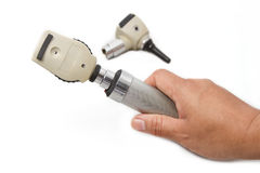 Otoscope and Opthalmoscope for ear eye  examination Royalty Free Stock Photography
