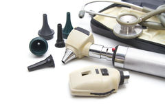Otoscope and Opthalmoscope set Stock Photos