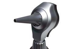 Otoscopehuvud med disponibel öraspets Arkivbild