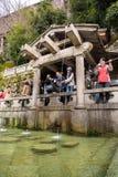 Otowa-no-taki waterfall at Kiyomizu temple Royalty Free Stock Images