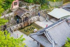 Otowa siklawa w Kiyomizudera Fotografia Royalty Free