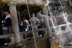 Otowa Waterfall at Kiyomizu-dera, Kyoto. Royalty Free Stock Images