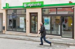 OTP bank in Porec, Crioatia. Royalty Free Stock Image