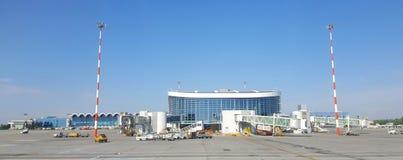 OTP Henri Coanda Airport, Otopeni, Bucarest, Rumania Fotografía de archivo libre de regalías