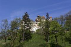 Otręby kasztel w Transilvania podczas wiosny fotografia stock