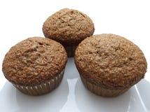 otrębiaści muffins trzy Zdjęcia Royalty Free
