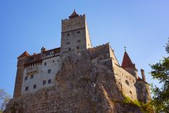 otrębiasty castel kasztelu Dracula Romania transilvania fotografia royalty free