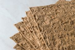 Otrębiasty opakunek robić z Pszenicznej mąki glutenem Bezpłatnym zdjęcia royalty free