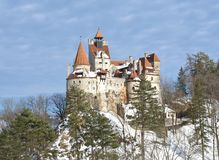 Otręby kasztel - Dracula ` s kasztel obrazy royalty free