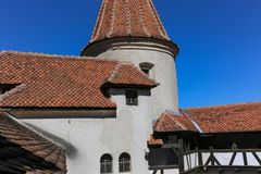 Otręby kasztel - Dracula s kasztelu szczegóły obraz stock