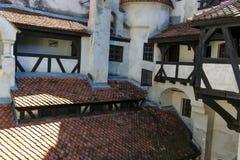 Otręby kasztel - Dracula s kasztelu szczegóły zdjęcia stock
