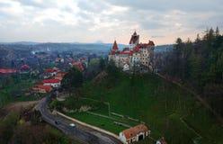 Otr?by kasztel lub Dracula punkt zwrotny w Transylvania zdjęcia royalty free