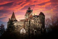 Otręby kasztel, Transylvania, Rumunia, znać jak zdjęcie royalty free