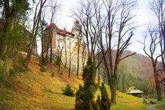 Otręby kasztel w Transylvania (Dracula kasztel) obrazy royalty free