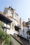 Otręby kasztel - wewnętrzny podwórzowy szczegół, Transylvania, Rumunia obrazy stock