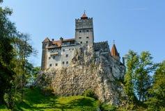 Otręby kasztelu, średniowiecznego i magicznego miejsce w Transylvania, Brasov okręg administracyjny, Rumunia zdjęcia stock
