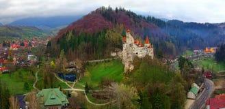 Otr?by kasztel lub Dracula punkt zwrotny w Transylvania, Rumunia fotografia stock