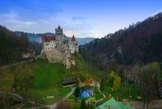 Otr?by kasztel lub Dracula punkt zwrotny w Transylvania, Rumunia zdjęcia stock