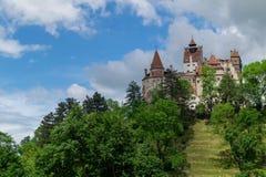 Otr?by kasztel, tak?e zna jako Dracula ` s kasztel, Brasov, Rumunia zdjęcie royalty free