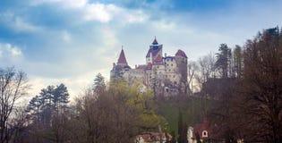 Otr?by kasztel w Rumunia, Transylvania dracula obrazy royalty free