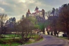 Otr?by kasztel w Rumunia, Transylvania obrazy stock