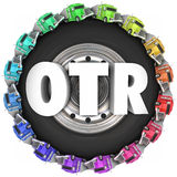 OTR Tractor Trailer Trucks Over the Road Trucking Stock Photo