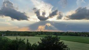 Otra puesta del sol Fotos de archivo libres de regalías