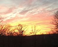 Otra puesta del sol de Oklahoma Fotografía de archivo libre de regalías