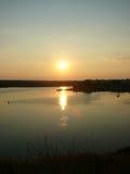 Otra puesta del sol en cielo Fotografía de archivo