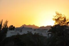 Otra puesta del sol hermosa en Egipto imagenes de archivo
