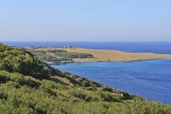 Otranto海湾, salento,普利亚, orte, 免版税库存照片