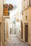 Otranto, Apulia - A dreamily alleyway within the old town of Otr stock image