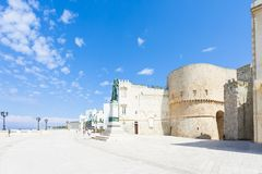 Otranto, Apulia - Promenade of Otranto in front of the historic stock image