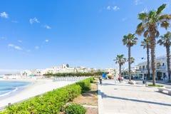 Otranto, Apulien - Palmen an der Promenade von Otranto in Ital lizenzfreie stockbilder