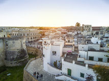 Otranto with Aragonese castle, Apulia, Italy. Otranto with historic Aragonese castle in the city center, Apulia, Italy Royalty Free Stock Photography