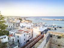 Otranto with Aragonese castle, Apulia, Italy. Otranto with historic Aragonese castle in the city center, Apulia, Italy Stock Images