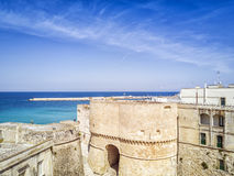 Otranto with Aragonese castle, Apulia, Italy Royalty Free Stock Photography