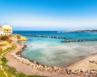 Otranto - coastal town in Puglia with turquoise sea. Italian vacation. Town Otranto, province of Lecce in the Salento peninsula, Puglia, Italy stock photos