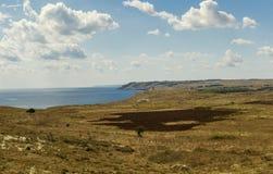 Otranto costero del panorama de la entrada Imagenes de archivo