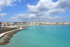 Otranto hamn Royaltyfria Bilder